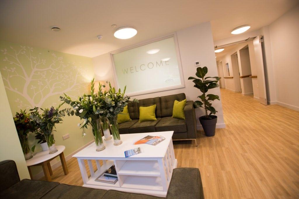 care home reception design
