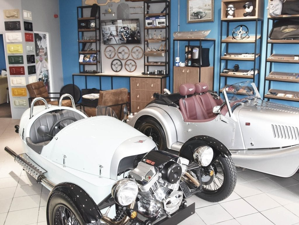 Morgan Car Showroom interior design